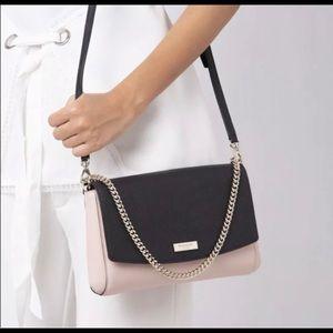 Kate Spade Crossbody,Handbag, pink with black flap
